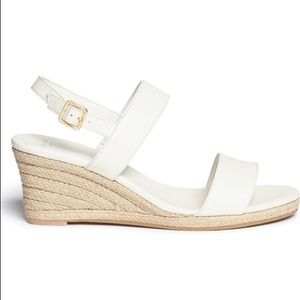 Cole Haan Opha White Wedge Sandals 9.5